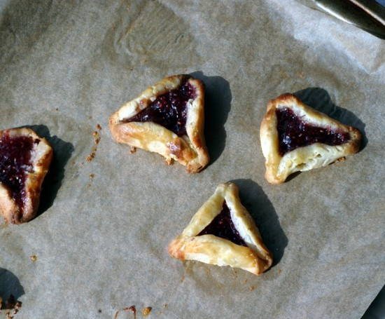 Hamantashen baked and cooling