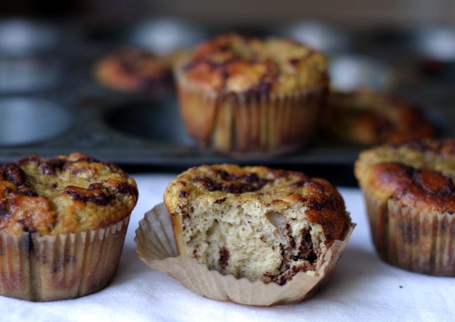 Cinnamon bun muffin lineup