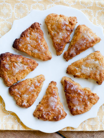 Lemon Ginger Scones and Apricot Jam